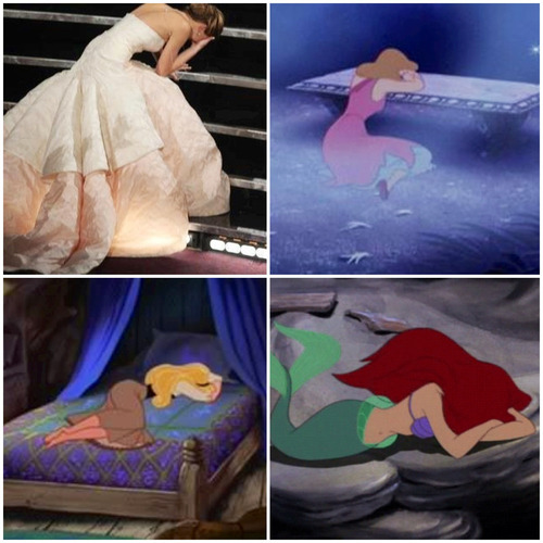 skipperjovi:  ambiguousfangirl:  Jennifer Lawrence, Disney princess  But she got right back up again, like the others, with a little help from Wolverine.