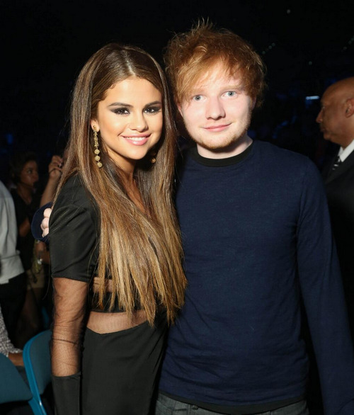 jusgohollywood:  HQ of Selena Gomez and Ed Sheeran at the 2013 Billboard Music Awards.