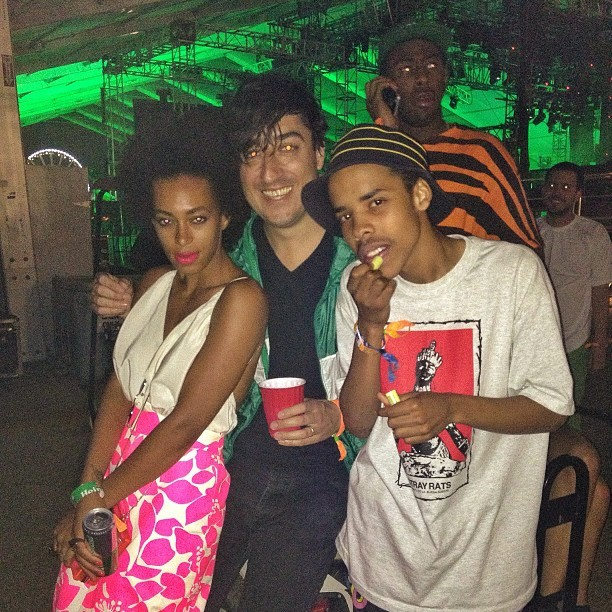 """Solange. Earl Sweatshirt with photo bomb by @feliciathegoat "" - via @eddroste"