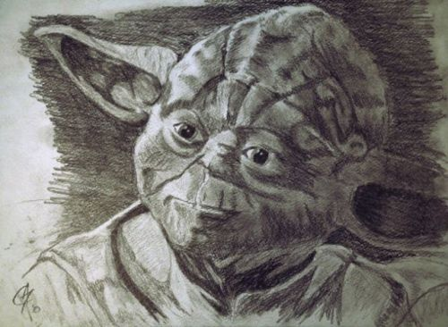 another old drawing of yoda…finished this one