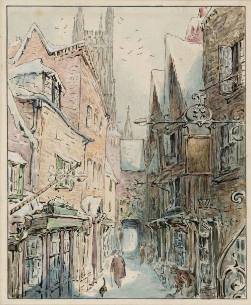 toon-books:  Incredible city scene by Beatrix Potter