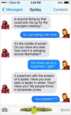 popular Spiderman iron man tony stark comics Marvel Marvel Comics ironman spider-man TFSH Texts From Superheroes