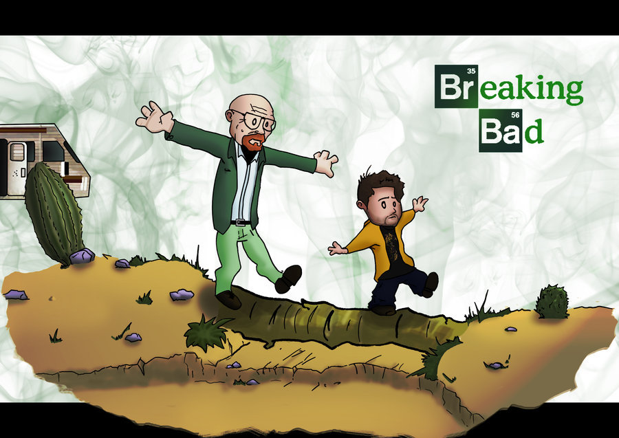 heisenbergchronicles:  Walter and Jesse as Calvin and Hobbes by Du-de in France