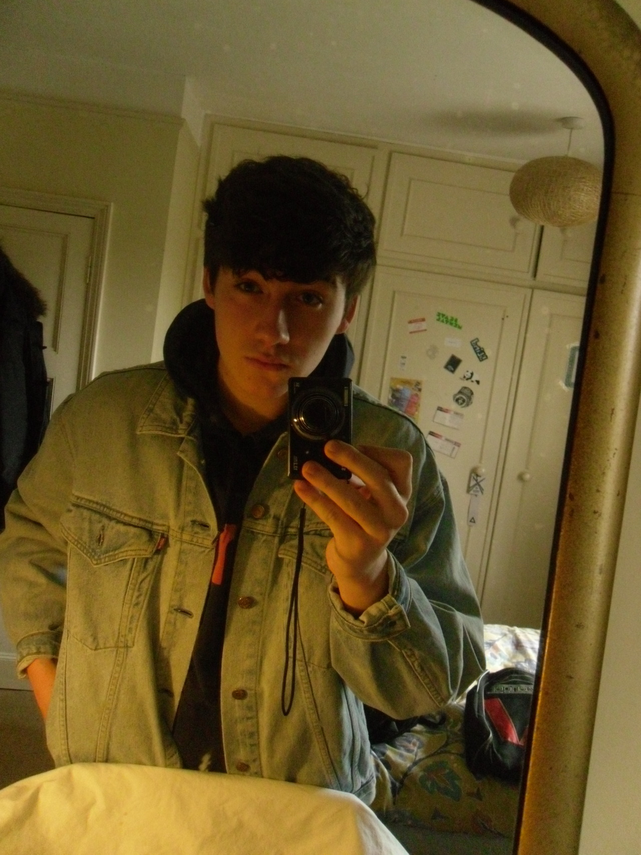 le girlfriend got me a denim jacket n i haven't really uploaded a selfie in forever lol