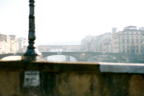 thiscouldbeaparty:  Ponte Vecchio from afar.