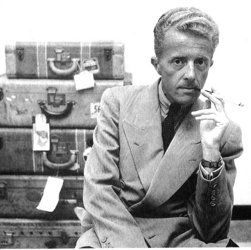 Paul Bowles by Patrick Chartrain on Flickr. Paul Bowles with luggage.