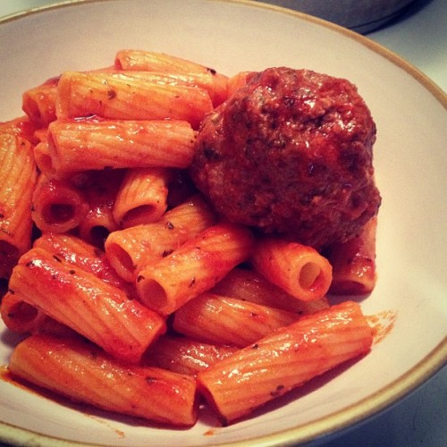 Lunch. #lunch #italian #pasta #meatball #homemade #parmesan #culture #savannah #kitchen #italianboy #mamataughtmewell