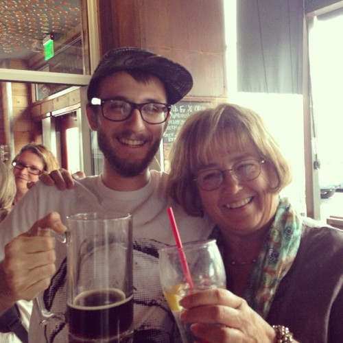 Getting drunk with my favorite teacher 😁