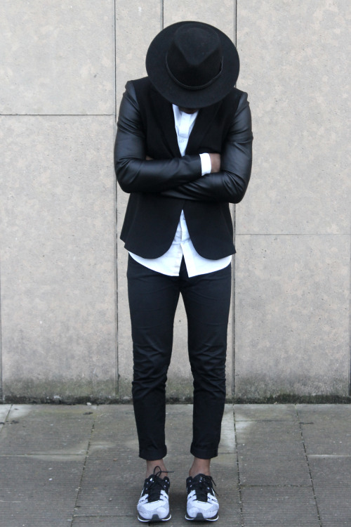 fashionforgents:  fusionkelvar:  I wear this hat too much and i wear all black too much. Time to start dressing for summer. Thinking about switching to primarily pastels, especially brown and pink. Have a blessed Sunday.  Well, you should wear it all the time. It looks fabulous
