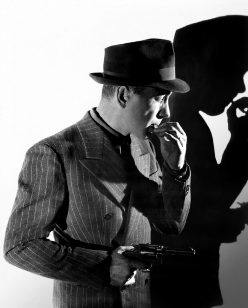Man and his chalk stripe DB.— Humphrey Bogart