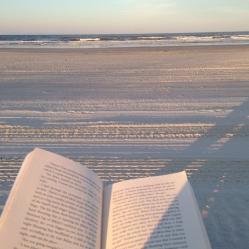 This is how I intend to spend this next week. #relaxing #reading #beach #vacay #macklemore #cantholdus #music #sunset #finally #summer2013