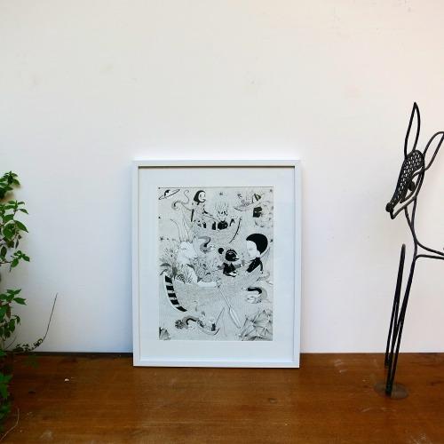 Exhibition at gallery EKO SATO #galerieeko#emi uda#drawing#paris#collab#fredlechevalier#exhibition