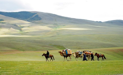 absolutetraveltours:  If luxury travel in Mongolia is not the first thought that comes to mind when considering a vacation in Asia, we highly recommend you think again! Mongolia is a beautiful, nomadic country and truly one of the last frontiers on earth. Get adventurous with camel caravans, wild horsemen, vast blue skies, and endless rolling hills!