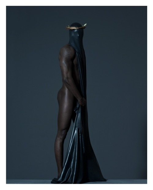 ruggedlacedlust:  Black Jesus photo by photographer Mustafa Sabbagh