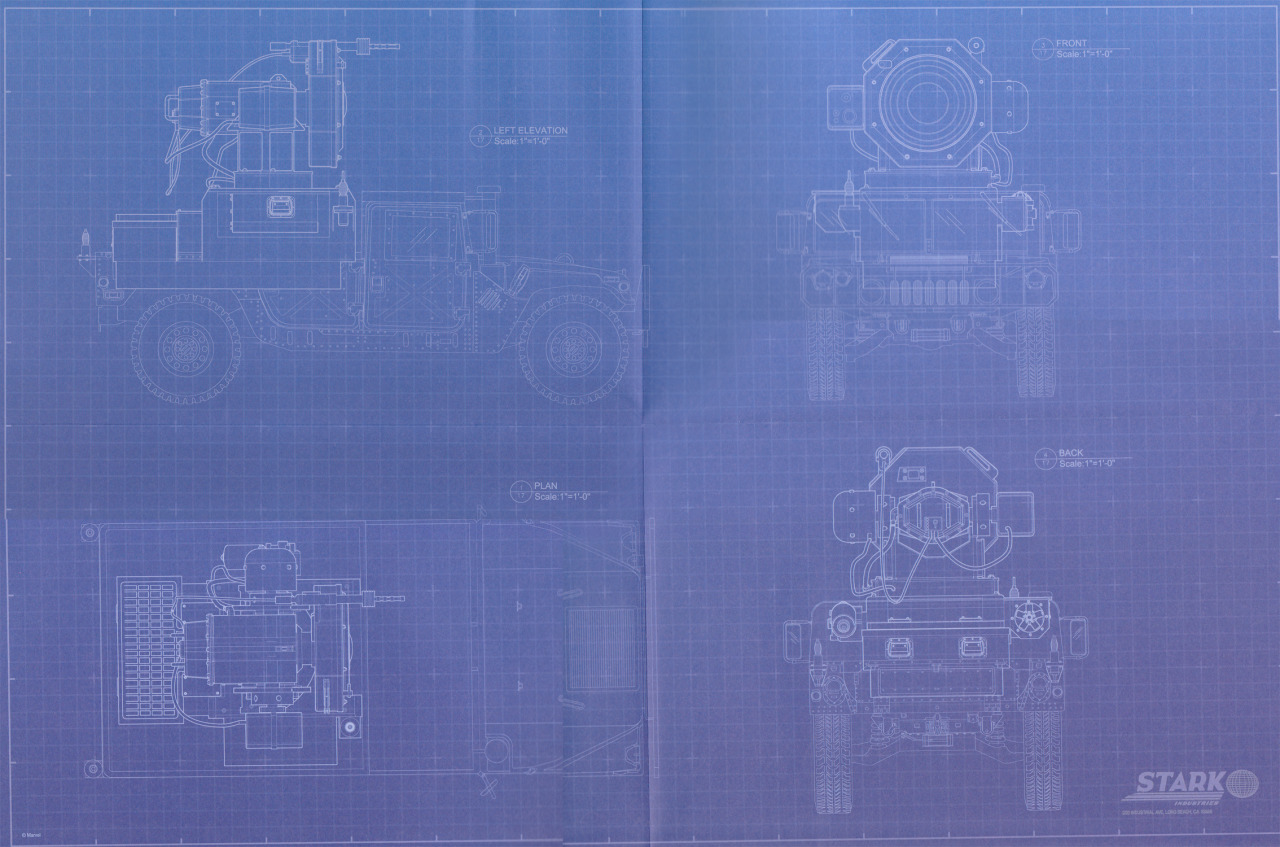 Blueprints for the sound cannon used in The Hulk movie (2008)