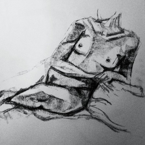 #lifedrawing at #Cambridge Centre for the #Arts tonight. Take 1 of this pose