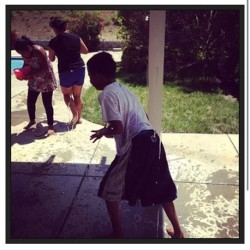 #latepost #repost water balloon fight with the kids earlier today. #sundayfunday