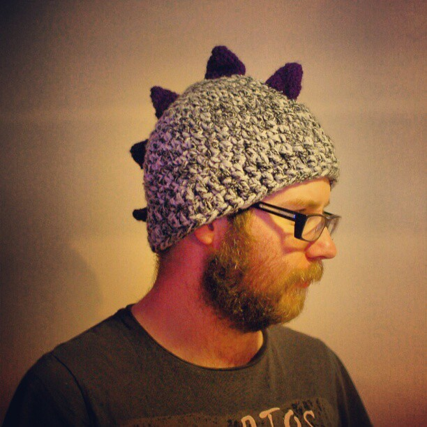 Here, check out the awesome #dinosaur #hat that @aileenpancake made me for my Christmas! The #wool even matches my scarf! #kitts_adventures_in_fashion