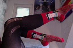 mmyrushmoree:  You jealous of my kick ass socks?
