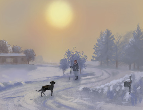 Winter On The Farm, Kenny Callicutt, Artist
