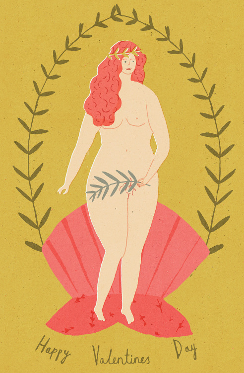 naomiwilkinson:  Here's my interpretation of Aphrodite. Enjoy Valentines day!