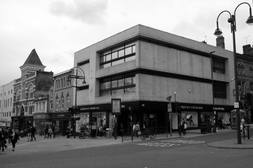 Brutalist retail. Leeds, April 2013.