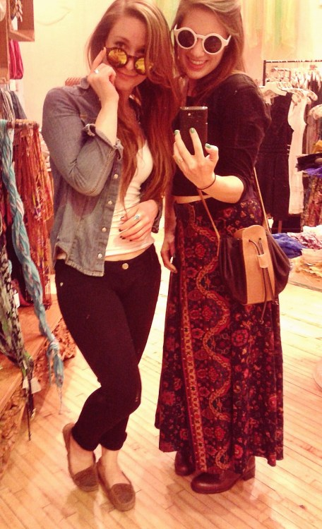 My bestie Amy and I chillin' at da mall