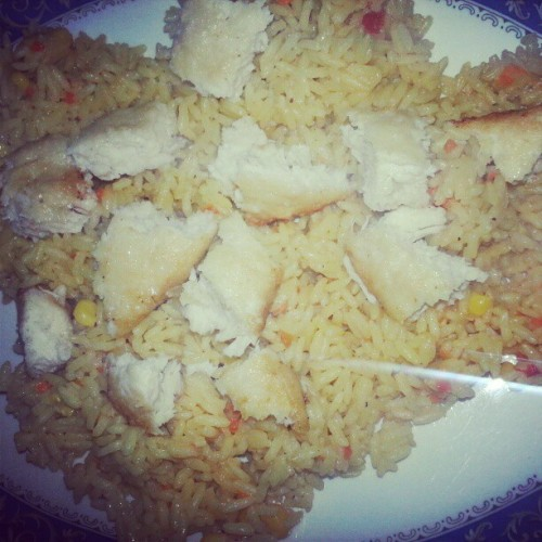 chicken and rice nom