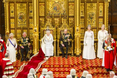 nemoi:  The Royal Party in the Lords chamber (via UK Parliament)