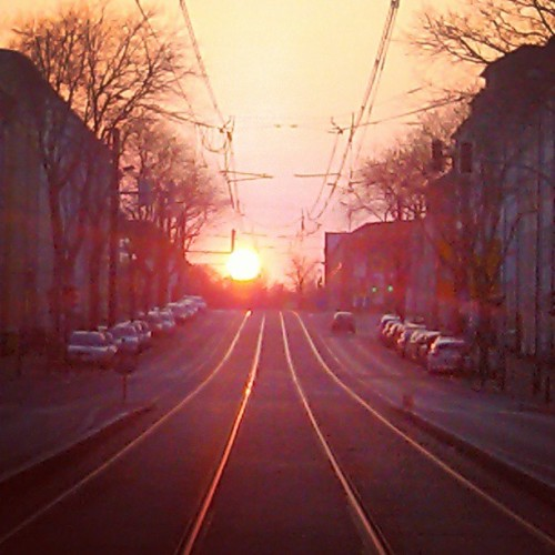 on fire // #homesweethome #rostock #sunset #ktv #sun #sunnyday #sundown  (hier: KTV (Kröpeliner Tor Vorstadt))