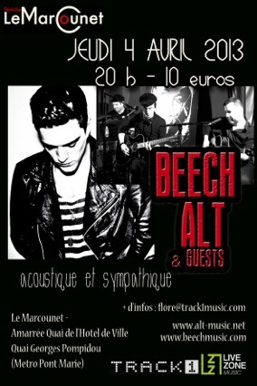 Beech live at Le Marcounet, Paris, Thursday 4th of April