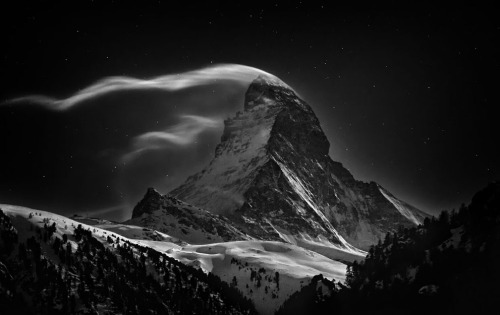 First Place, Places Category: The Matterhorn, 4,478m, at full moon. (© Nenad Saljic/National Geographic Photo Contest) (via Winners of the National Geographic Photo Contest 2012 - In Focus - The Atlantic)