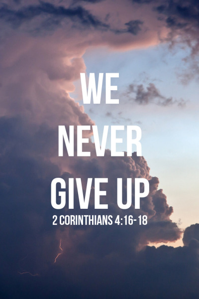 "spiritualinspiration:  That is why we never give up. Though our bodies are dying, our spirits are being renewed every day.  For our present troubles are quite small and won't last very long. Yet they produce for us an immeasurably great glory that will last forever!  So we don't look at the troubles we can see right now; rather, we look forward to what we have not yet seen. For the troubles we see will soon be over, but the joys to come will last forever. (2 Corinthians 4:16-18) Have you been praying and believing for something that seems like it's taking a lot longer than you anticipated? Many times, people can miss God's best simply because they give up before they see their ""due season"" come. Don't let that be you! Be encouraged today; your answer is closer than you think! If it seems like things are getting more difficult, remember, when the intensity heats up, that means you are closer to your victory. It always seems darkest just before the dawn arrives. Remember, you serve a faithful God, and He's working behind the scenes on your behalf. Don't cast away your confidence today because your reward is coming. Just like a new mother forgets about her labor pain when she is finally holding her newborn, you'll forget about your struggle when you are holding on to your promise. While you are waiting, keep an attitude of faith and expectancy. Wake up every morning and say out loud, ""I've come too far to give up now. My due season is coming. I will reap my harvest."" Stay in faith and look for His hand of blessing because He has promised you victory, and your reward is coming!"