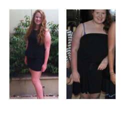 skiinny-healthy-happy:  Before and during :) one year!  PERF