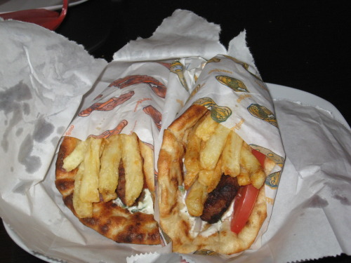 This is souvlaki, AKA Food of the Gods.