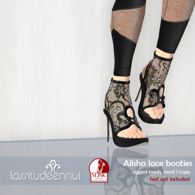 lassitudeennui:  Alisha lace booties new for The Boutique