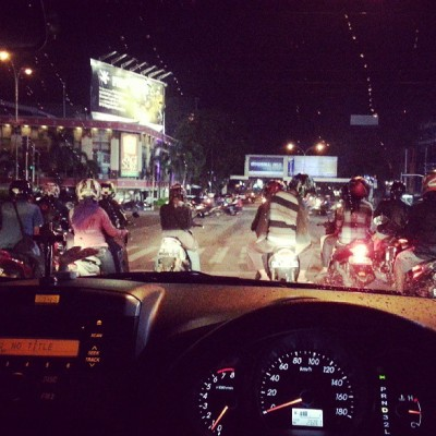 Look at all those motorcycle.. -.-""