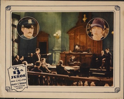 Lobby card for The Thirteenth Juror (1927). Sold here.