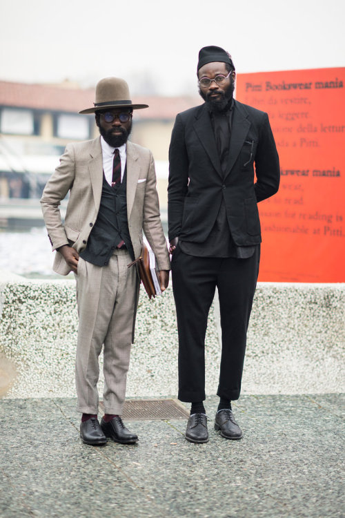 Street Style From Pitti Uomo  by Le 21ème