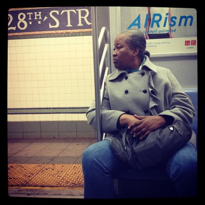 Subway Series #train  #travel  #transportation  #subway  #subwaycar  #women  #grey hair #entrance #exit #28thSt #door #looking #look