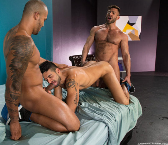 Spit Roast Gay Sex Position