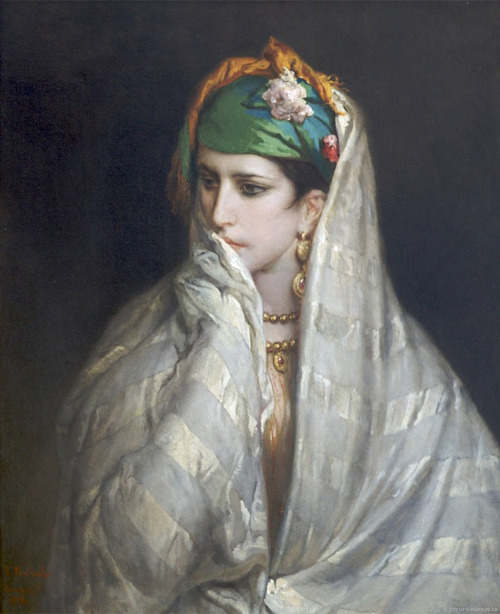 the-faces-of-art:  jean françois portaels, portrait of a north african girl, [19th century] (x)