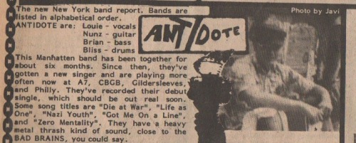 ANTIDOTE feature from MRR #7