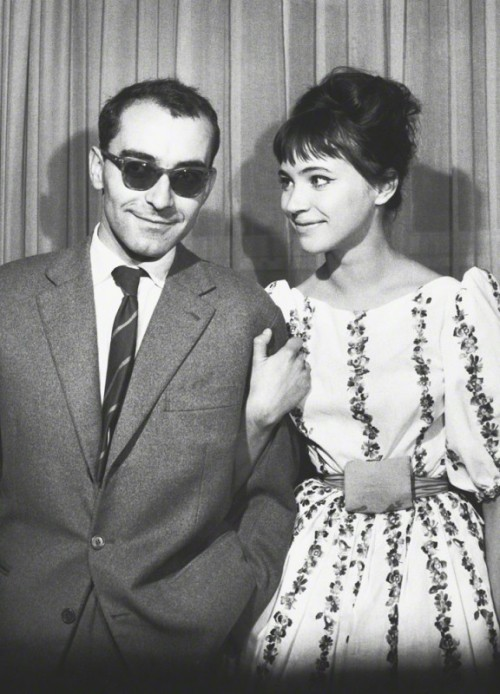 unpetitgateau:  Jean-Luc Godard and Anna Karina at the Berlin International Film Festival, 1961.