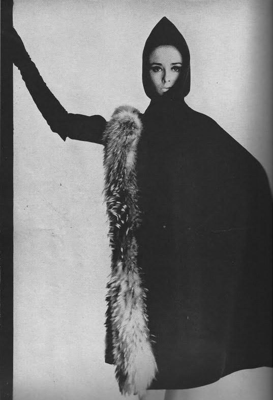 beautiful wool and fox fur cape from the pages of vogue