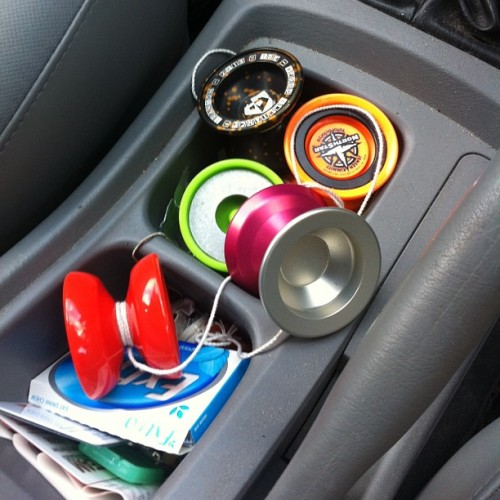 The average number of yoyos in my bag or my car at any given time is at least 5. How about you? #werrdirony #tre2k13 #yyf #yoyofactory #yoyojam #yoyorecreation #yyr #werrdyoyos #werrdalliance  #todaysthrow