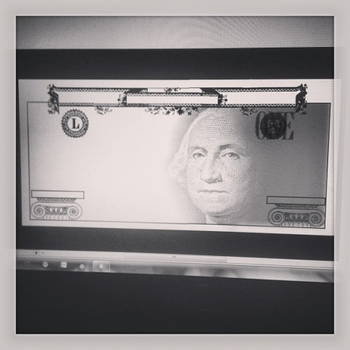 Redesigning American currency for digital type class. So muh work and I'm less than 1/18 of the way through the project. Guh