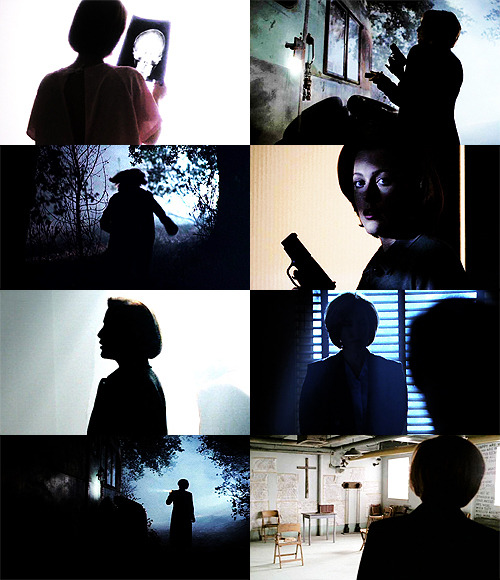 screencap meme: dana scully + silhouettes