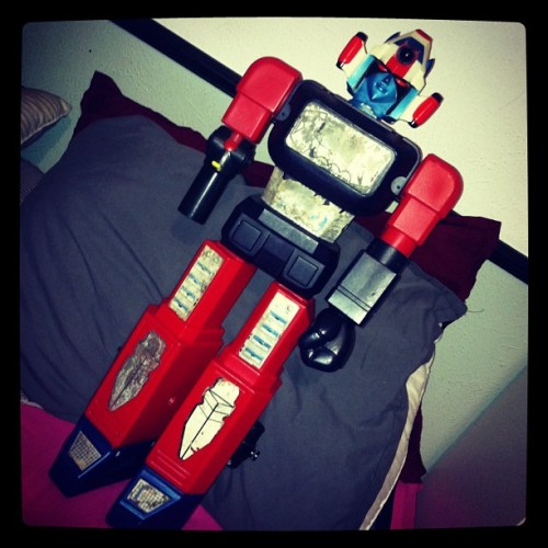 New #Shogun Warrior is all tucked in for the night. #giantrobot #toy
