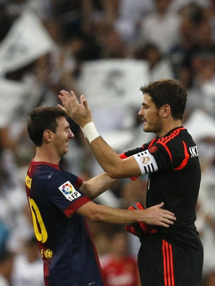 barcaville:  Iker Casillas is out for a month, he will miss the Copa Del Rey semi final and UCL match with Manchester United.                                 Animo Iker from Barcelona fans